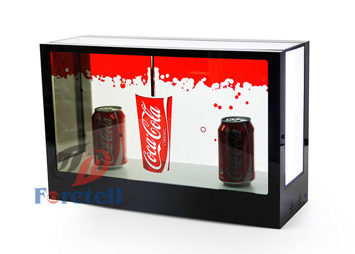 FHD Exhibition Transparent Touch Screen Display , Desktop 3d See Through Lcd Display