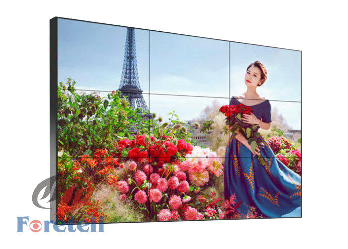 Commercial Advertising 4k Multi Monitor Wall , 1 X 3 Video Wall LCD Screens 16.7 M Color